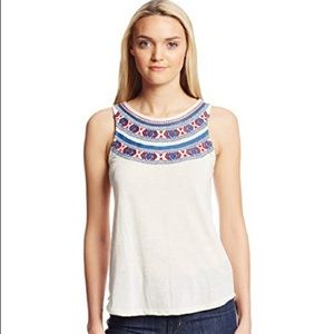 Lucky Brand Madera Embroidered Tank Top
